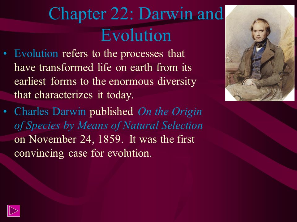 Chapter 22: Darwin and Evolution