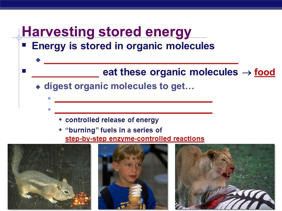 Harvesting stored energy