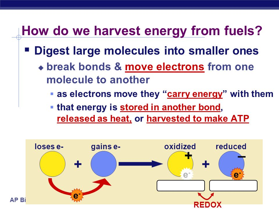 How do we harvest energy from fuels