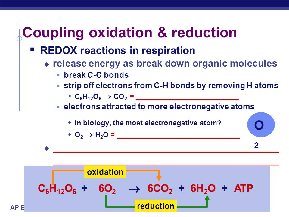 Coupling oxidation & reduction