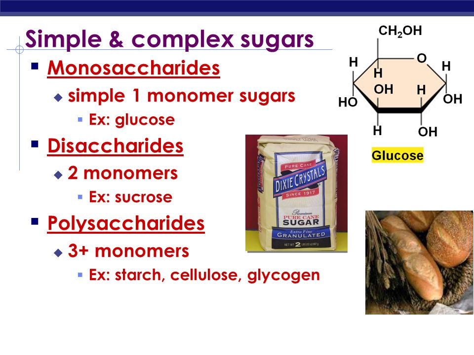 Simple & complex sugars