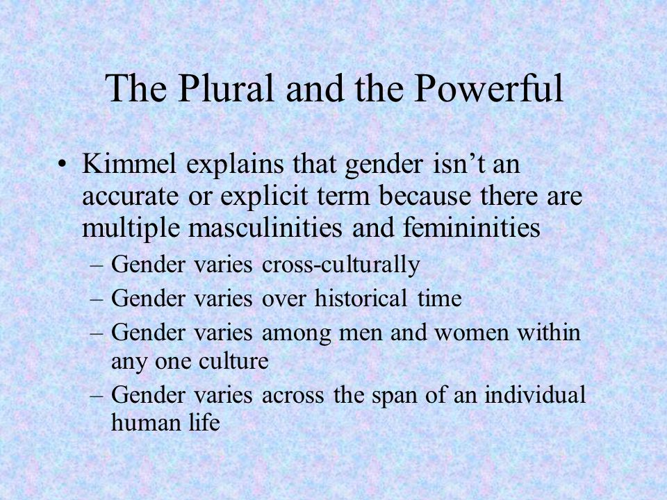 The Plural and the Powerful