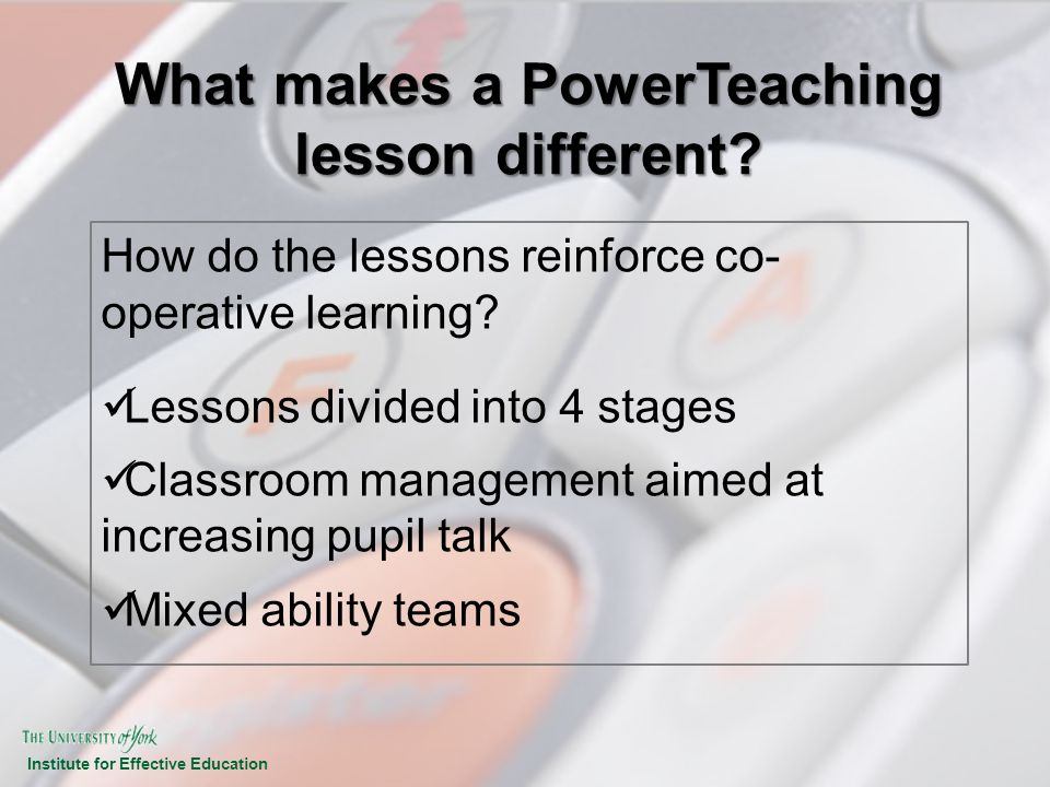 What makes a PowerTeaching lesson different