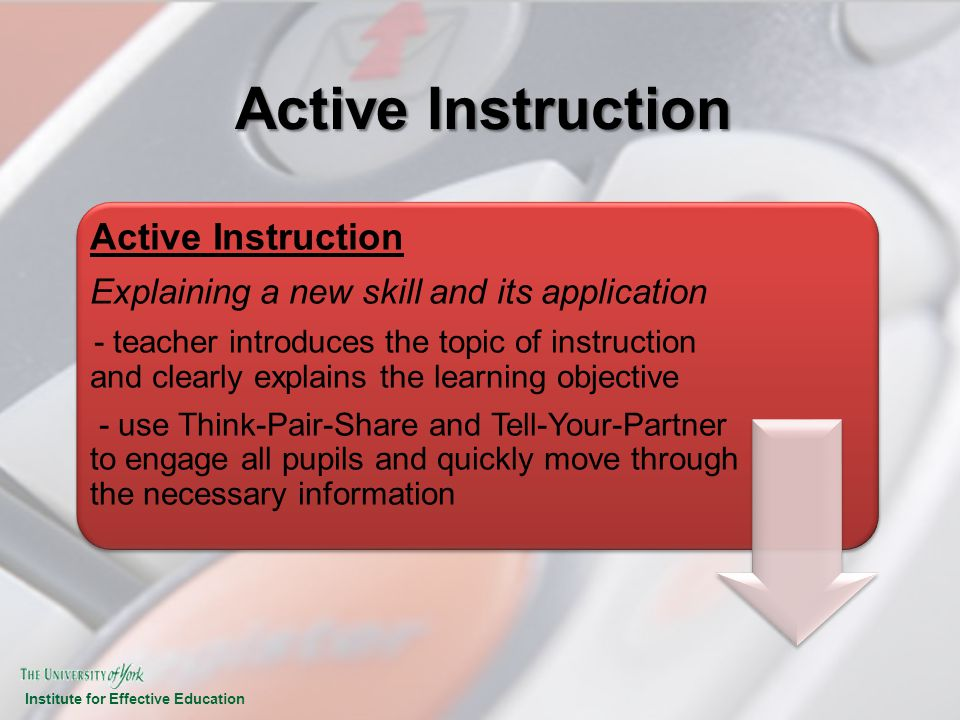 Active Instruction Active Instruction