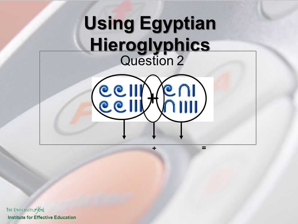 Using Egyptian Hieroglyphics