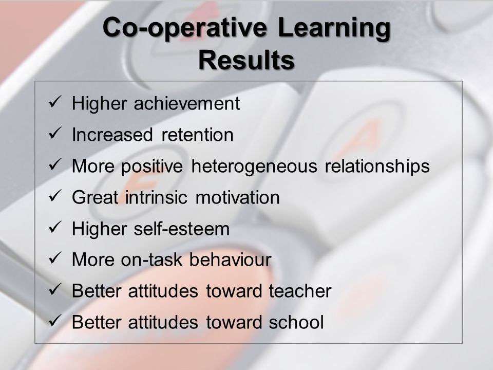 Co-operative Learning Results