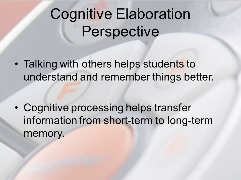 Cognitive Elaboration Perspective