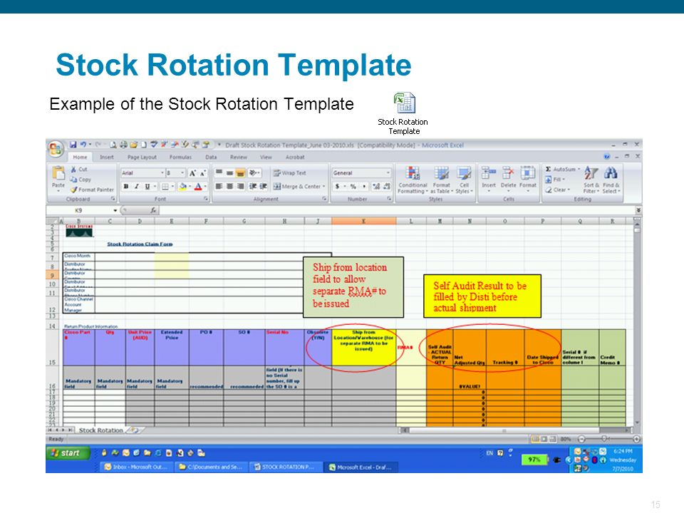 Stock Rotation Template