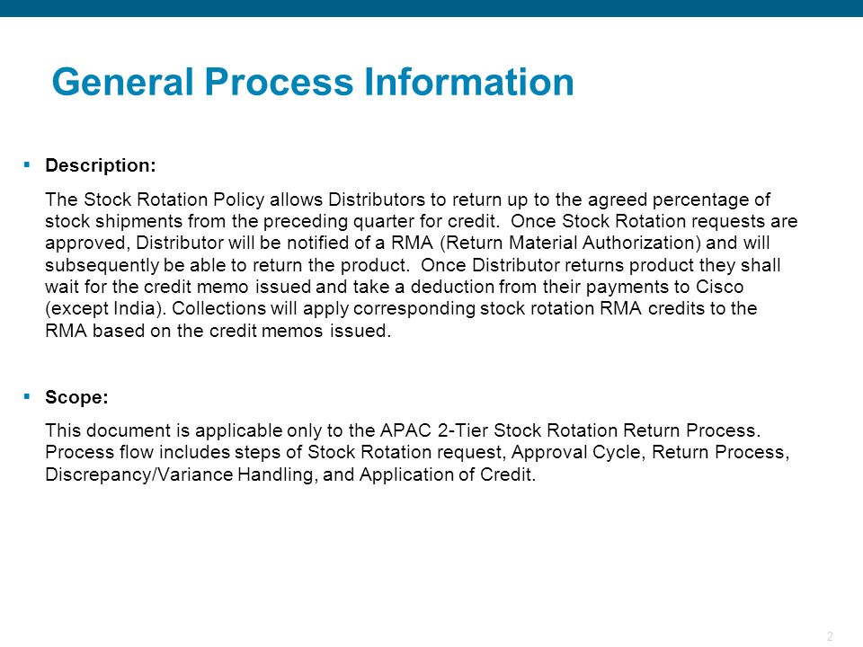 General Process Information