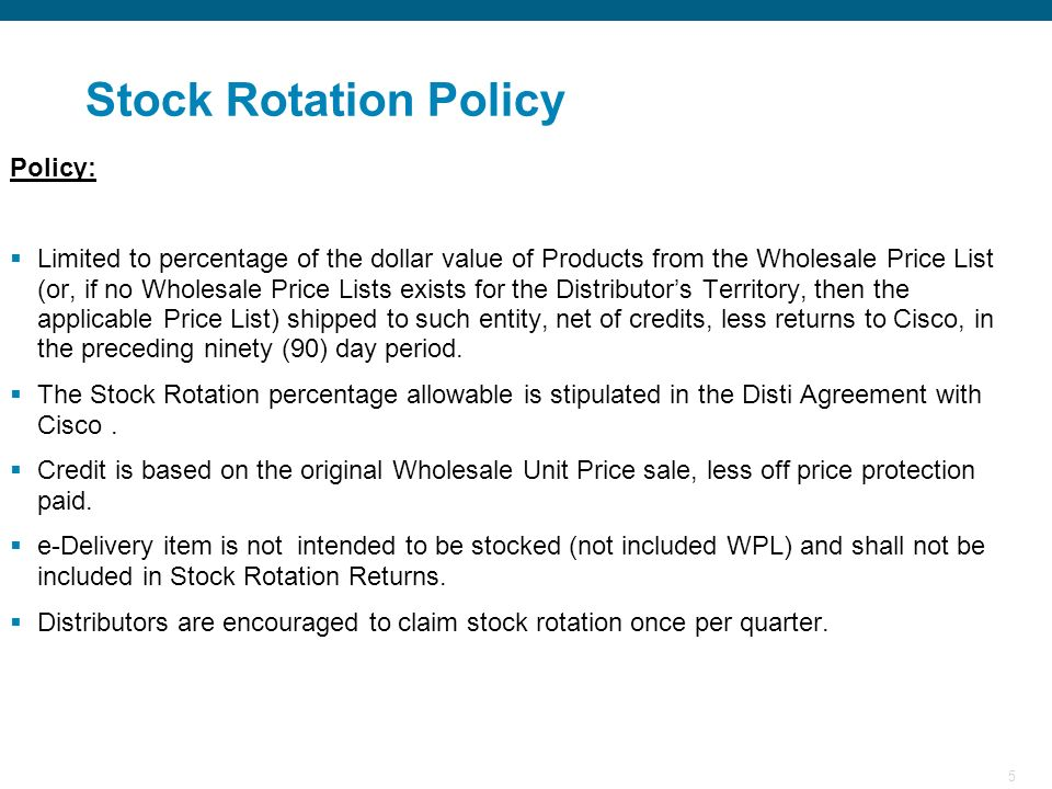 Stock Rotation Policy Policy: