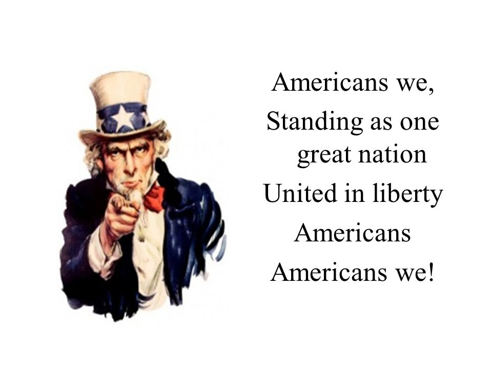 Standing as one great nation