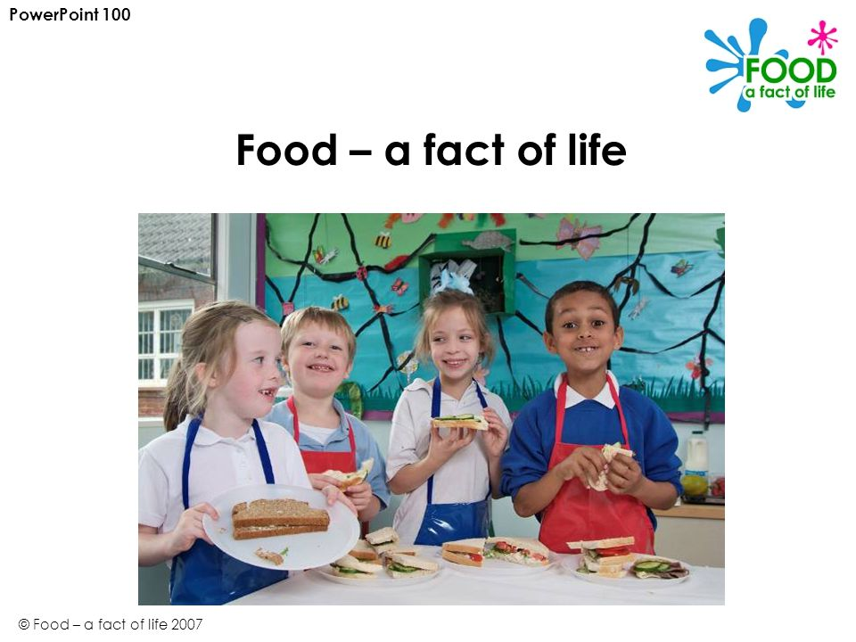 PowerPoint 100 Food – a fact of life © Food – a fact of life 2007