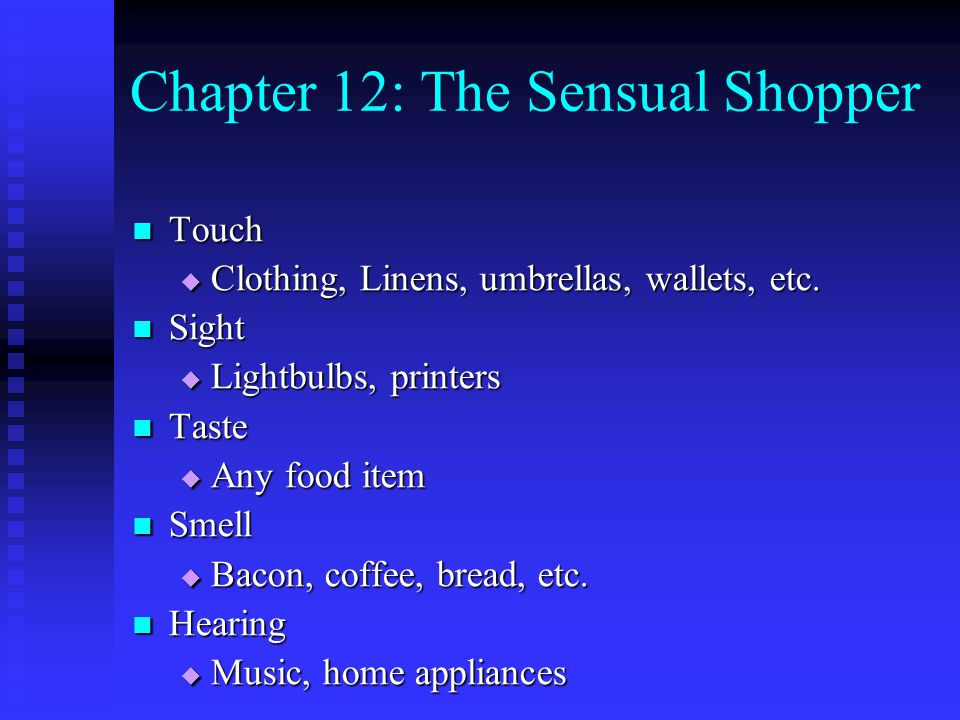 Chapter 12: The Sensual Shopper
