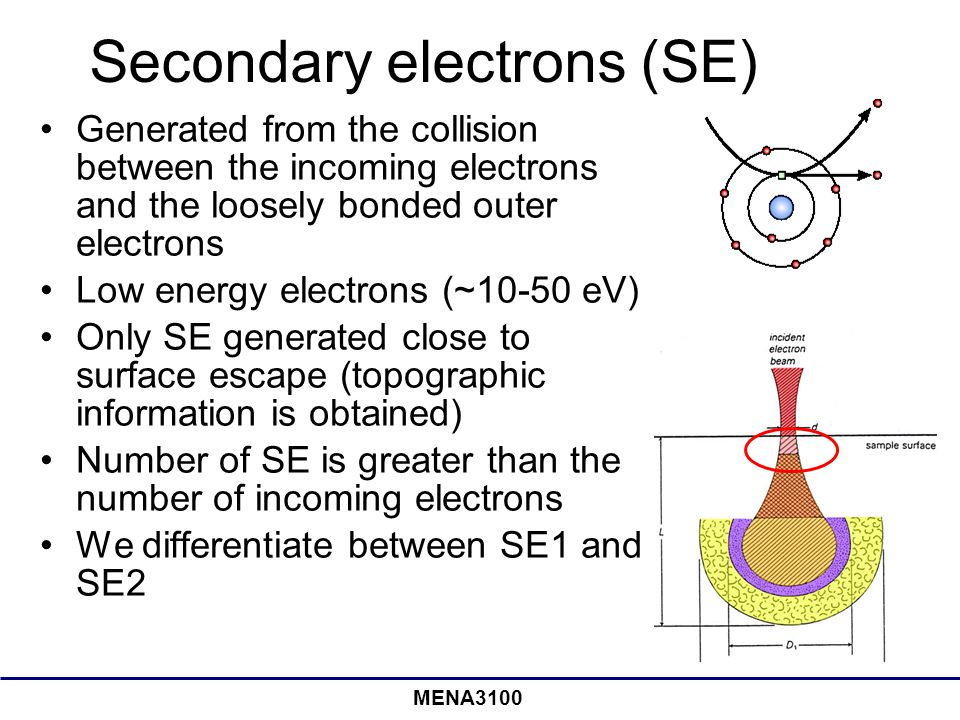 Secondary electrons (SE)