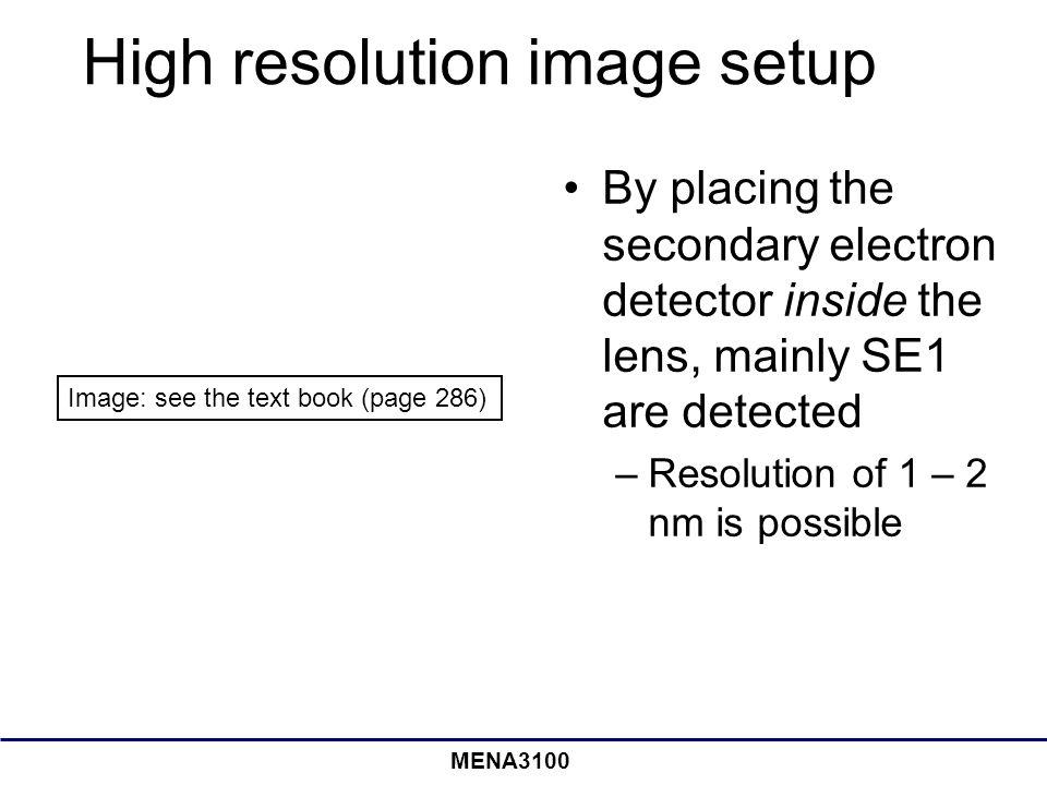 High resolution image setup