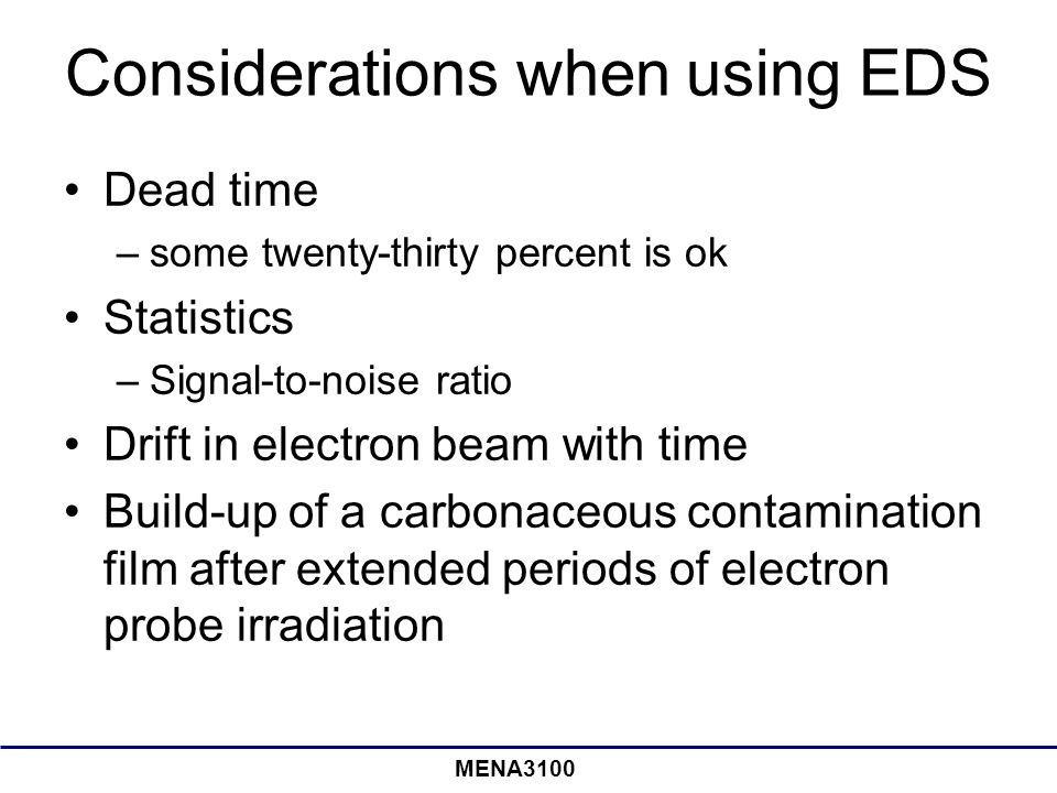 Considerations when using EDS