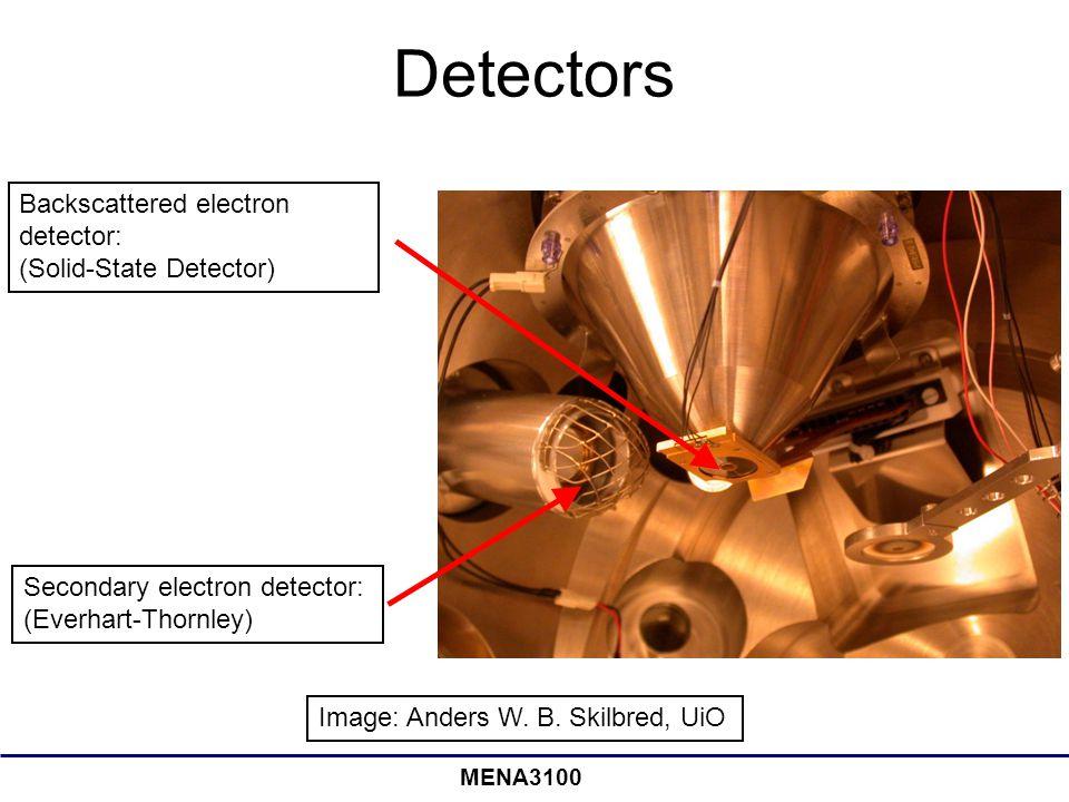 Detectors Backscattered electron detector: (Solid-State Detector)