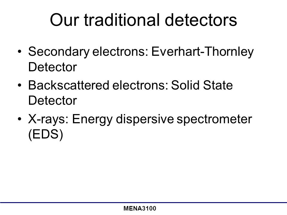 Our traditional detectors