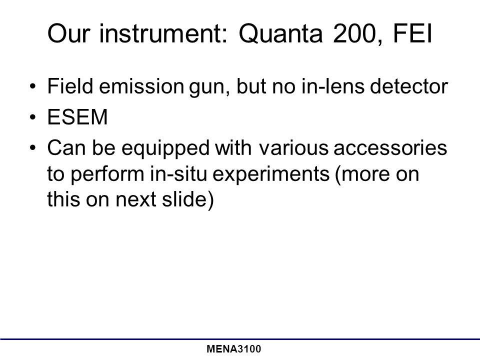 Our instrument: Quanta 200, FEI