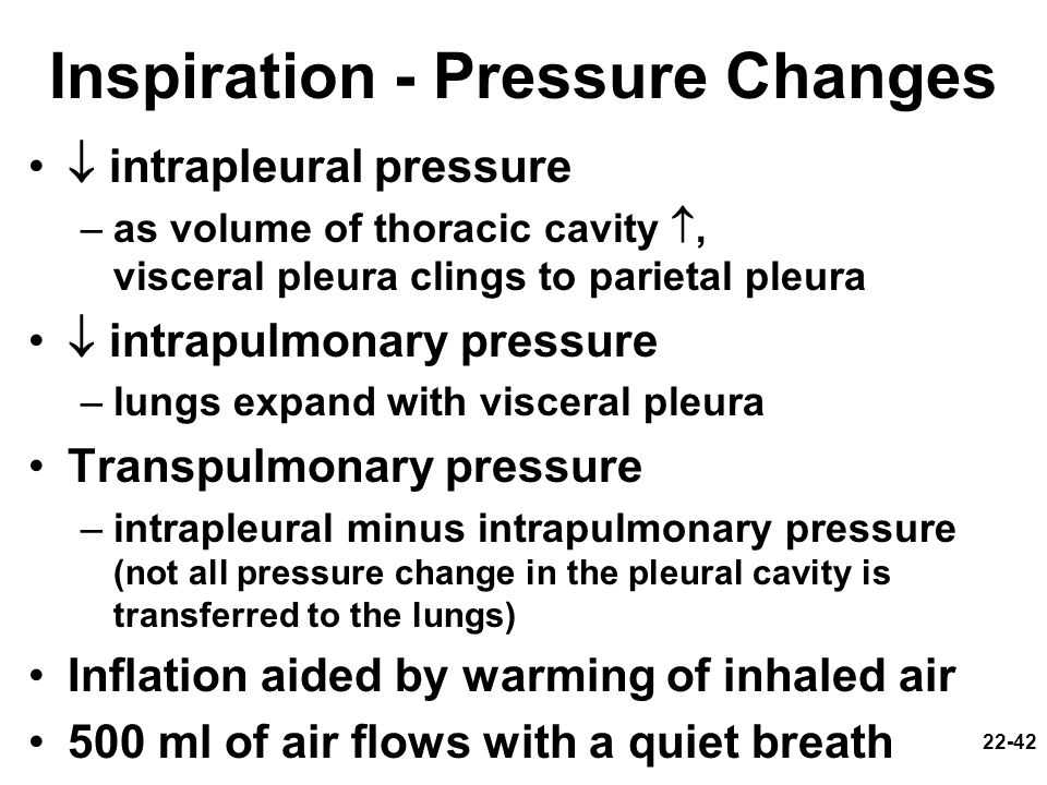 Inspiration - Pressure Changes