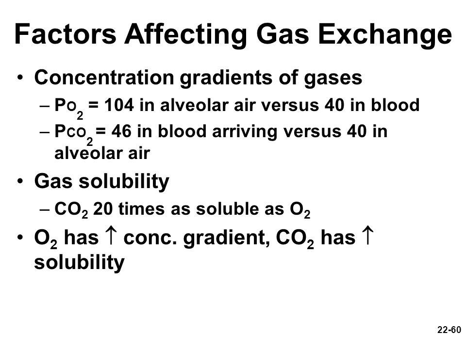 Factors Affecting Gas Exchange