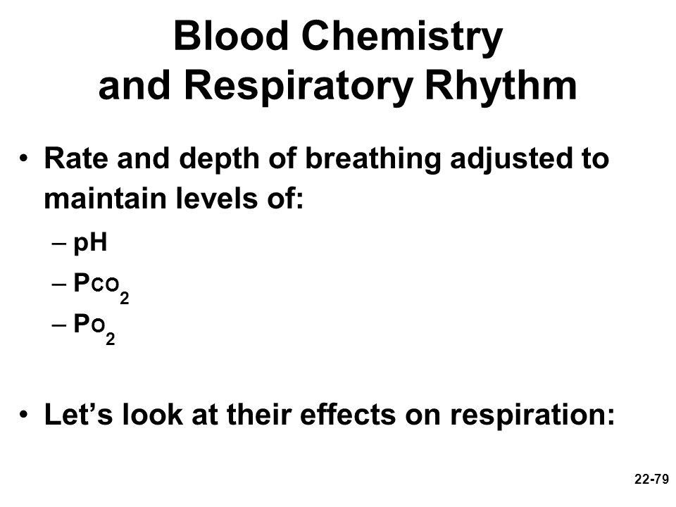 Blood Chemistry and Respiratory Rhythm