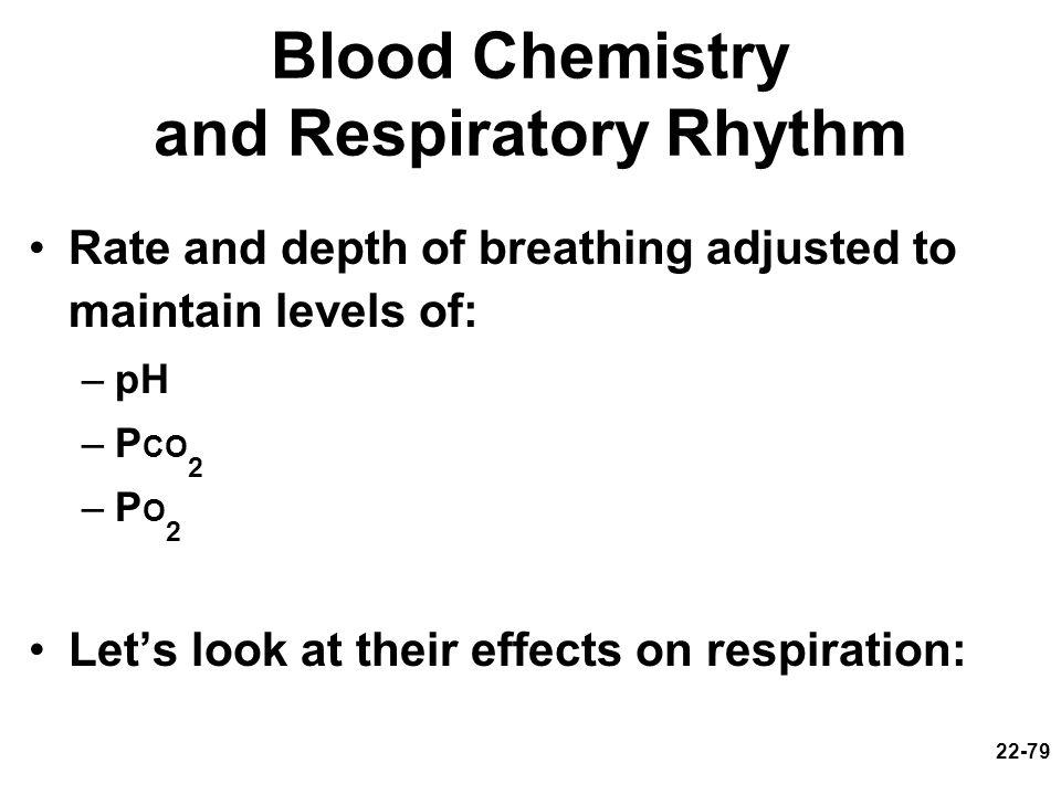 Blood Chemistry and Respiratory Rhythm