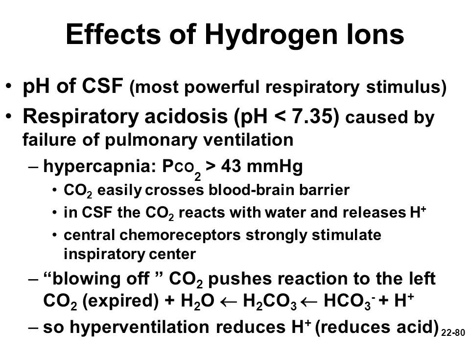 Effects of Hydrogen Ions