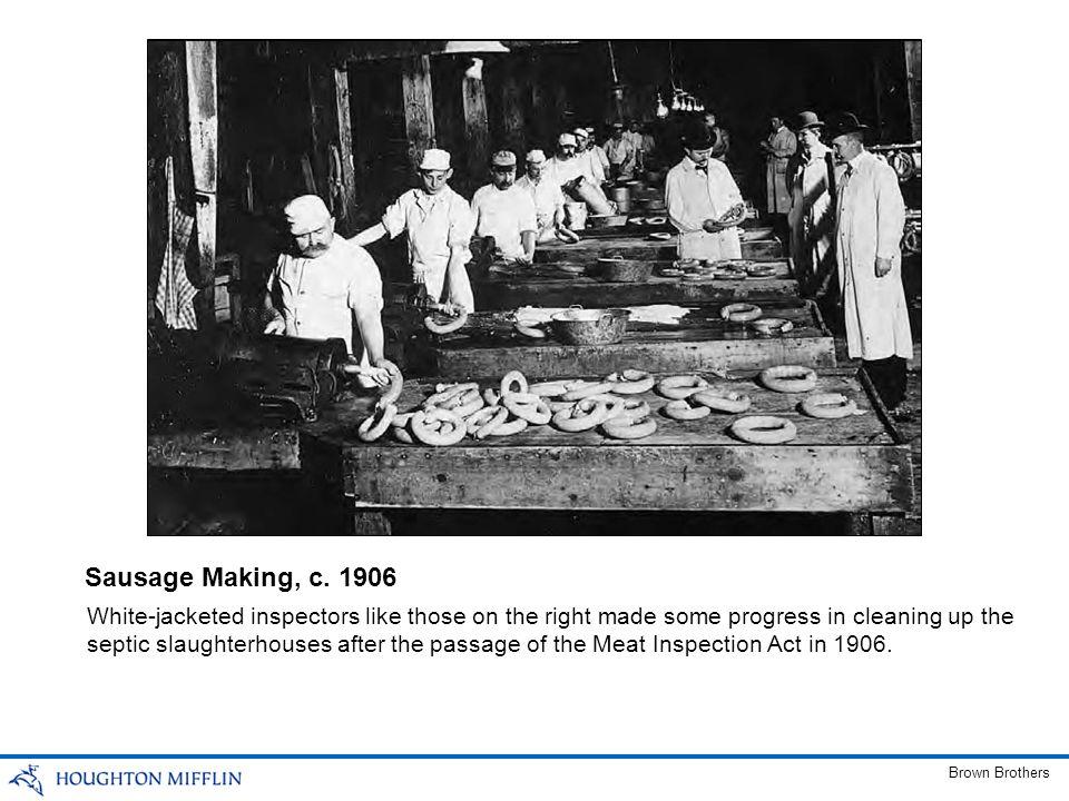 Sausage Making, c. 1906