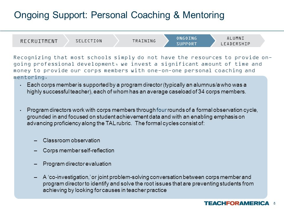 Ongoing Support: Personal Coaching & Mentoring