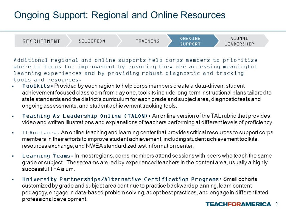 Ongoing Support: Regional and Online Resources