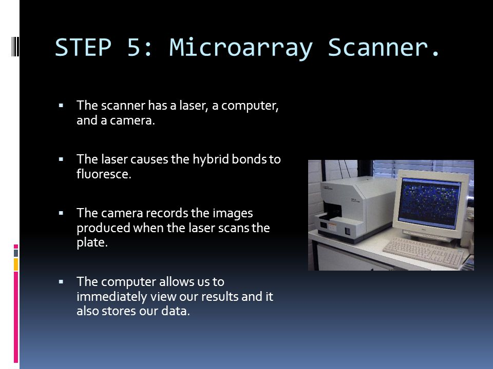 STEP 5: Microarray Scanner.