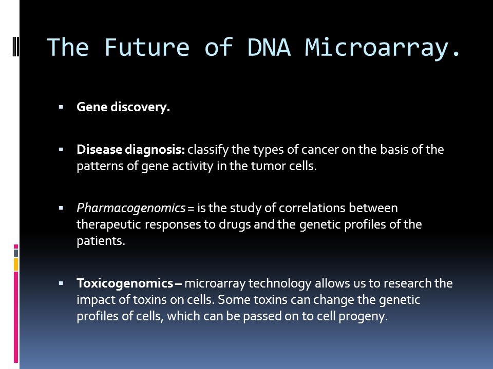 The Future of DNA Microarray.