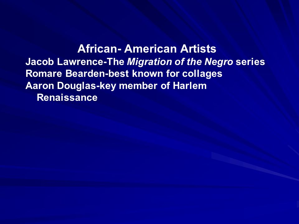African- American Artists