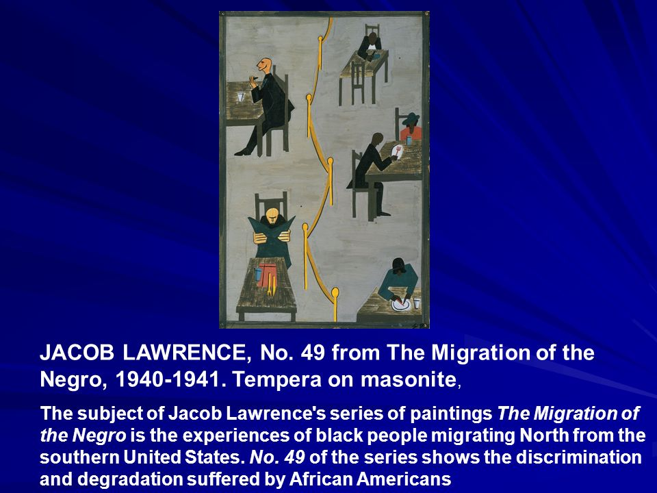 JACOB LAWRENCE, No. 49 from The Migration of the Negro, 1940-1941