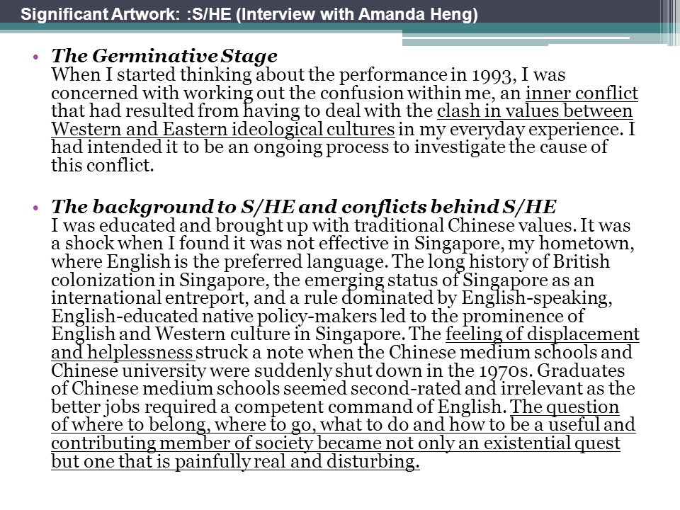 Significant Artwork: :S/HE (Interview with Amanda Heng)