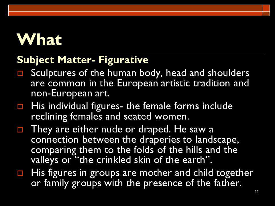 What Subject Matter- Figurative
