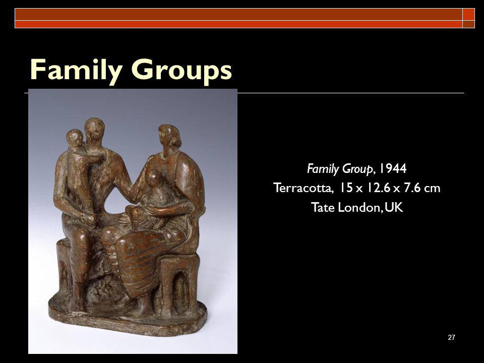 Family Groups Family Group, 1944 Terracotta, 15 x 12.6 x 7.6 cm