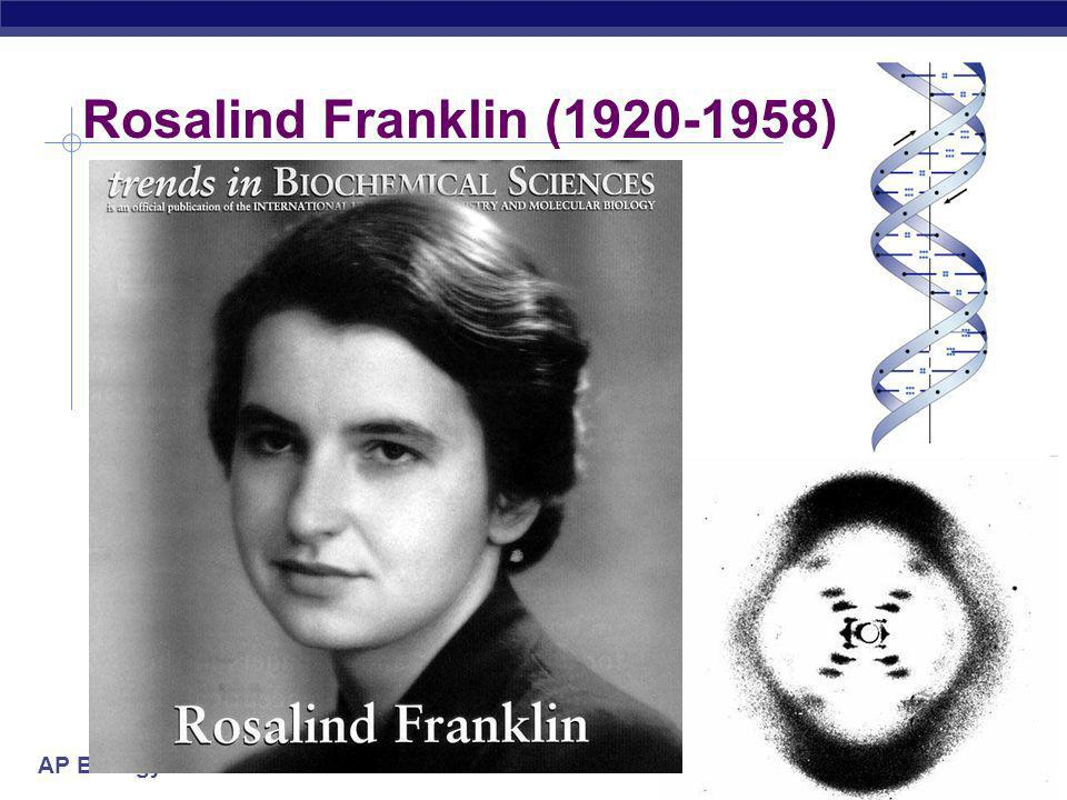 Rosalind Franklin (1920-1958) 2005-2006
