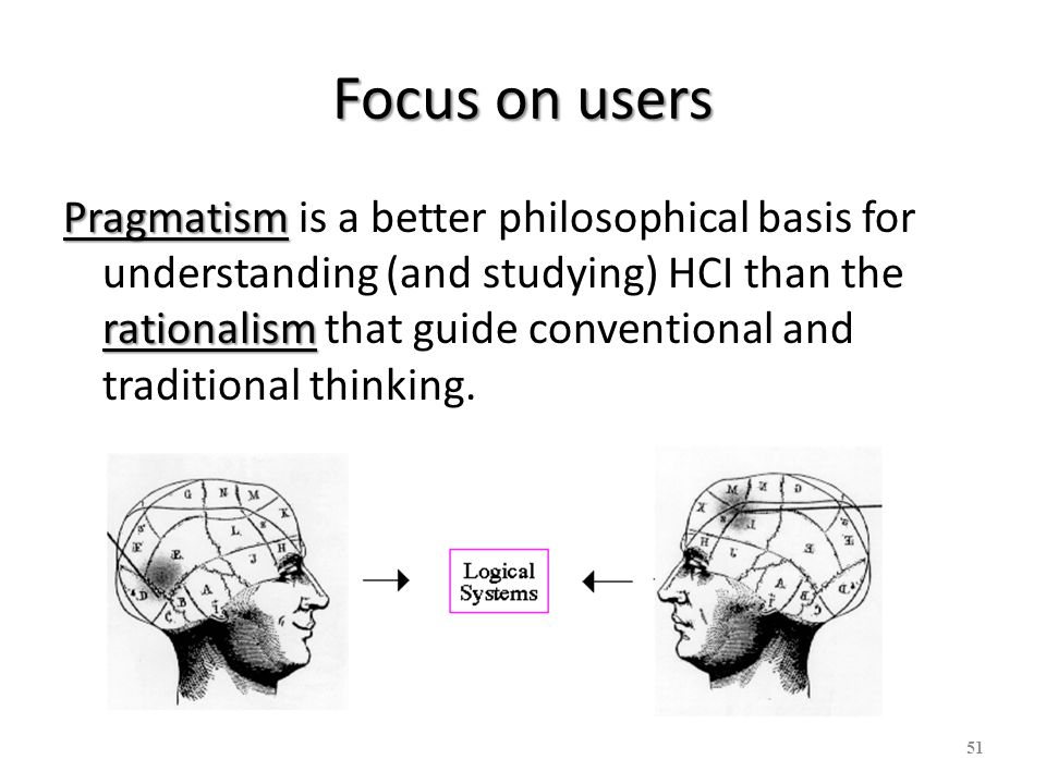 Focus on users
