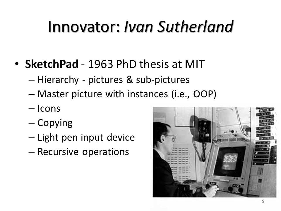 Innovator: Ivan Sutherland