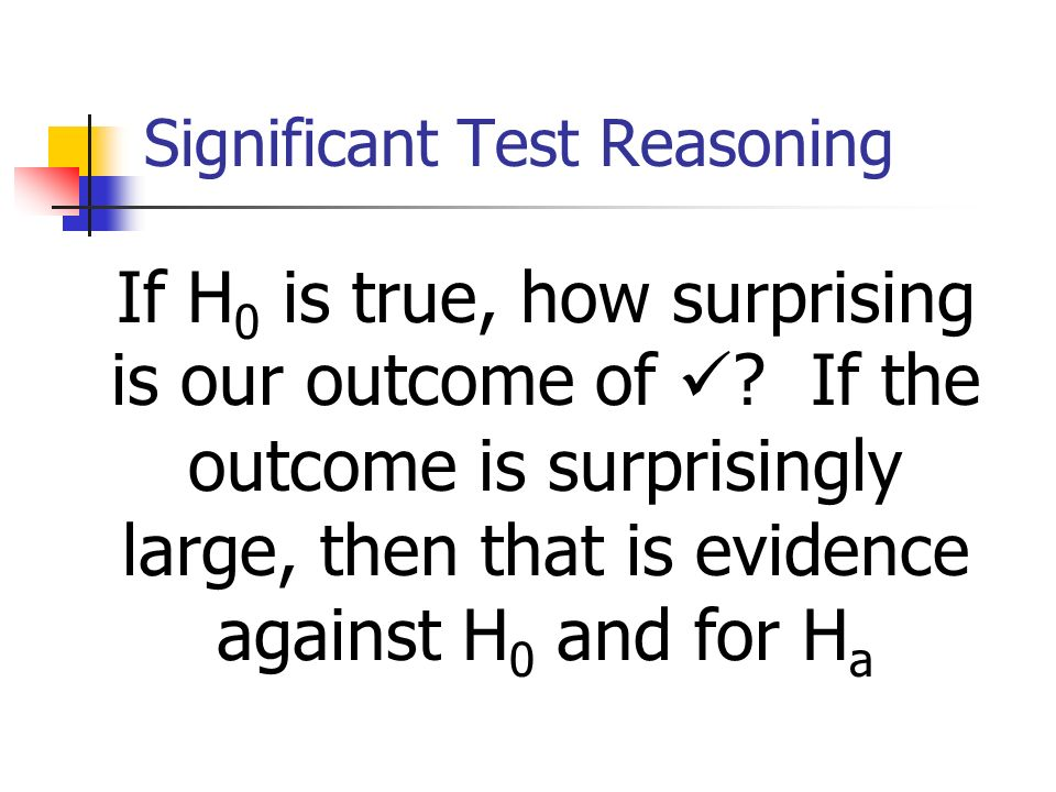 Significant Test Reasoning