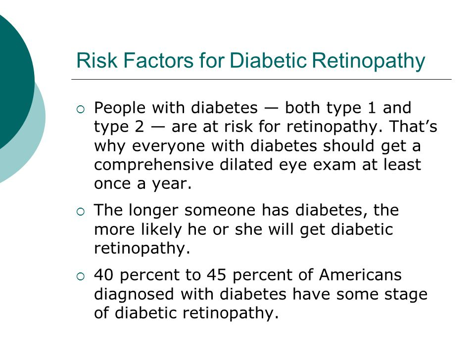 Risk Factors for Diabetic Retinopathy