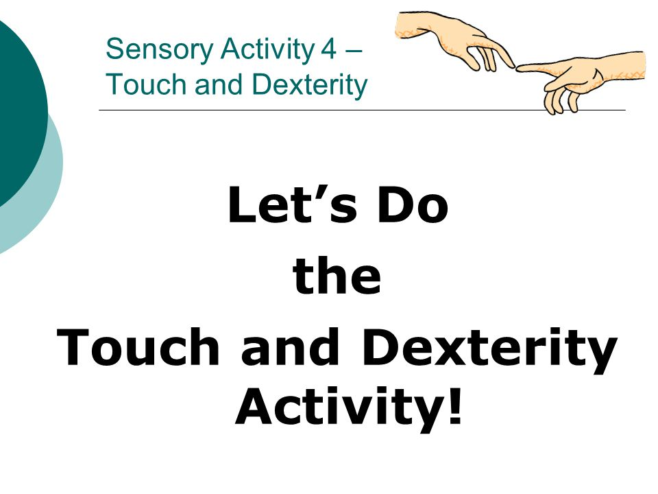 Sensory Activity 4 – Touch and Dexterity
