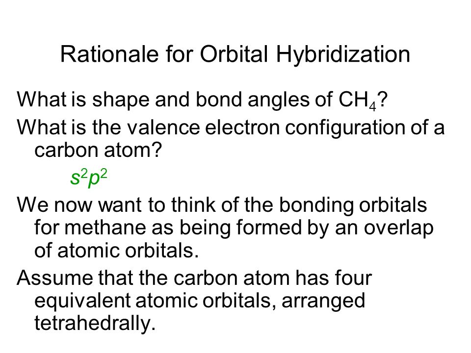 Rationale for Orbital Hybridization
