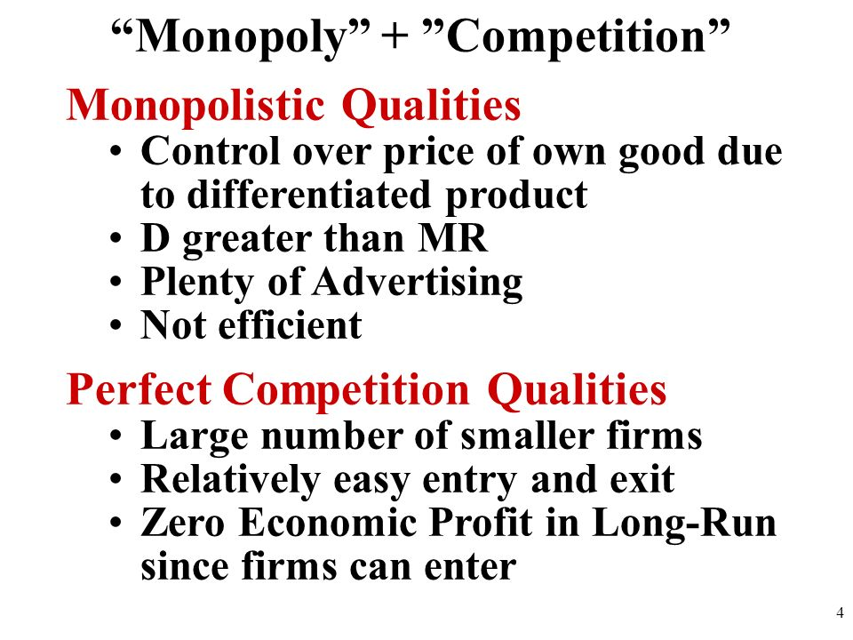 Monopoly + Competition
