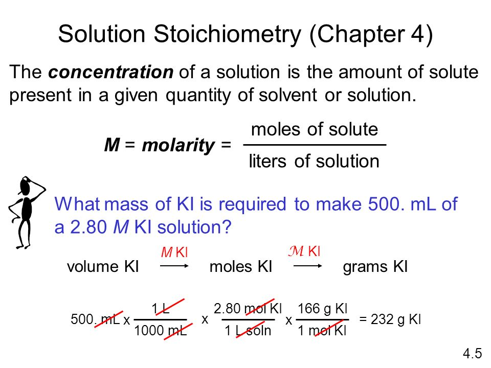 Solution Stoichiometry (Chapter 4)