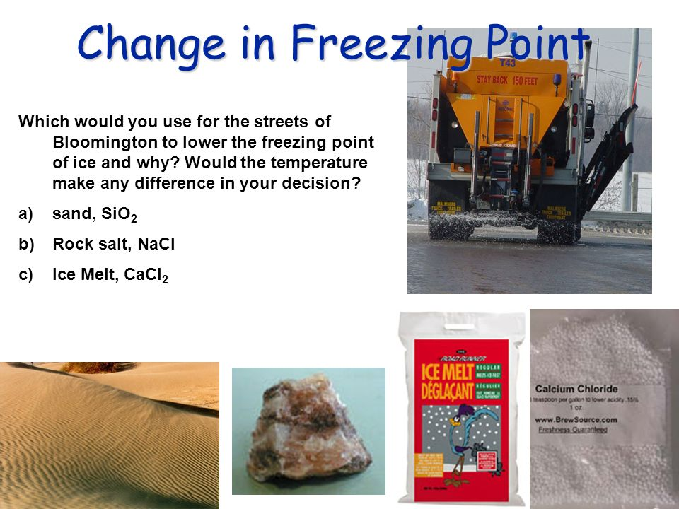 Change in Freezing Point