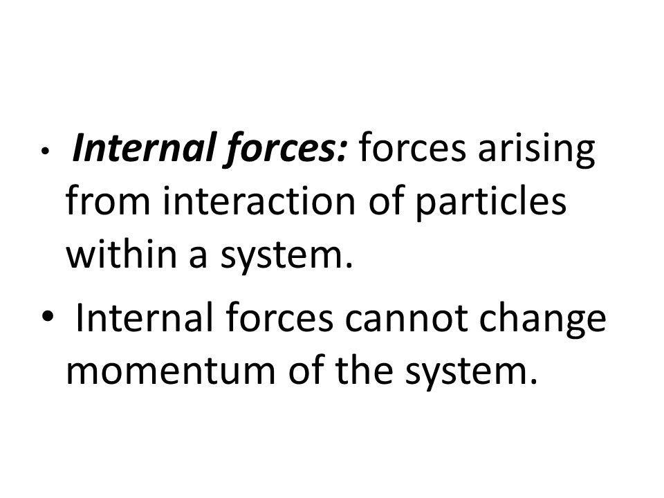 Internal forces cannot change momentum of the system.