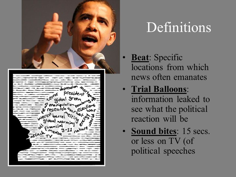 Definitions Beat: Specific locations from which news often emanates